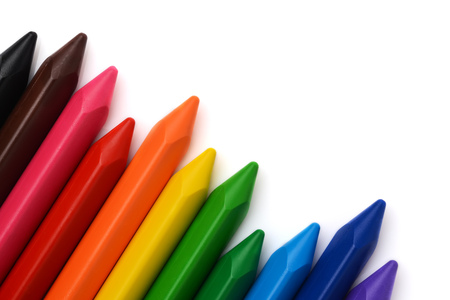 Multicolored pencils with free space for text Stock Photo