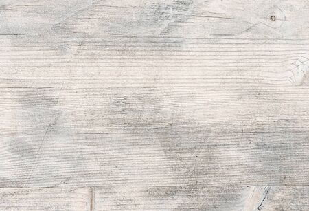 White wooden background. Natural texture. Vintage white wooden table background top view.