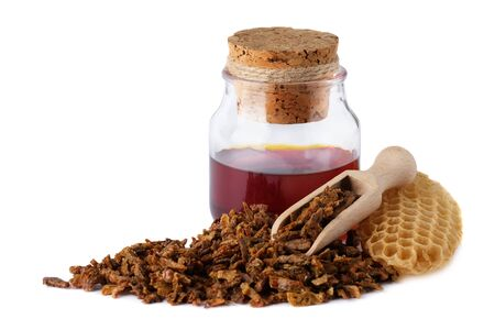 Alcoholic tincture of bee propolis. The healing properties of propolis. Natural remedies.