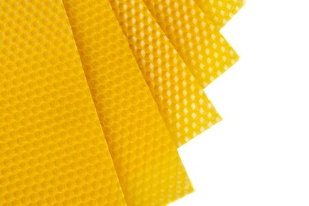 Beeswax. Wax base for honey bee rebuilding. Honeycomb. Beekeeping concept. Reklamní fotografie