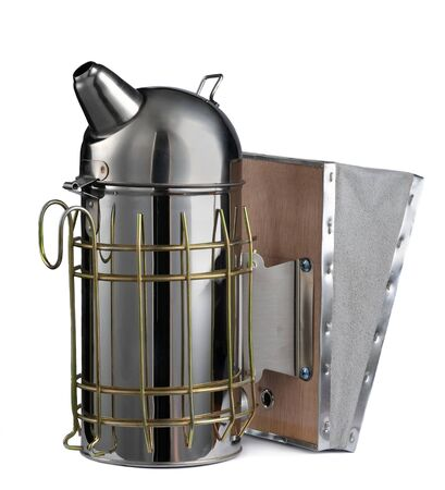 Bee smoker on a white background. The beekeepers tool. Beekeeping Inventory. 写真素材
