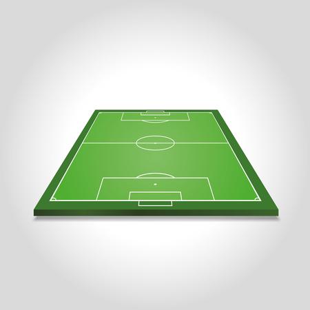 soccer field: Soccer field - vector