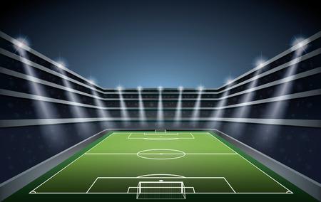 soccer stadium: Soccer Stadium with spot lights.