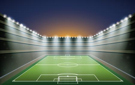stadium lights: Soccer Stadium with spot lights.