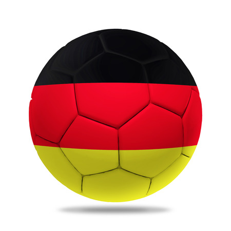 soccerball: 3D soccer ball with Germany team flag.