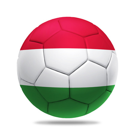 soccerball: 3D soccer ball with Hungary team flag.