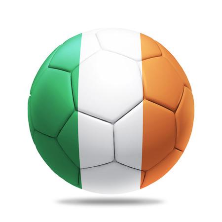 republic of ireland: 3D soccer ball with Republic of Ireland team flag.