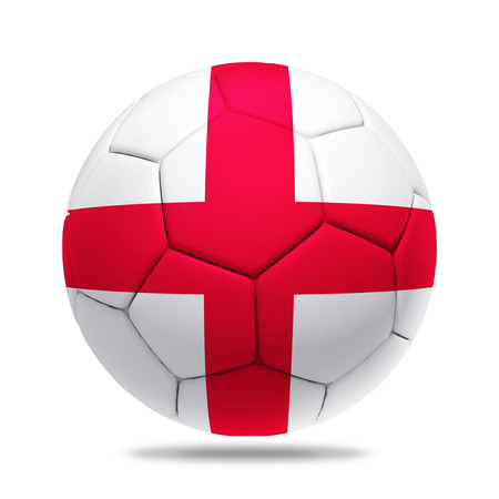 soccerball: 3D soccer ball with England team flag.
