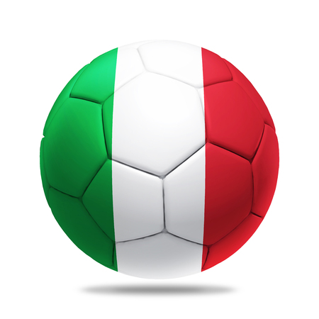 soccerball: 3D soccer ball with Italy team flag, Stock Photo