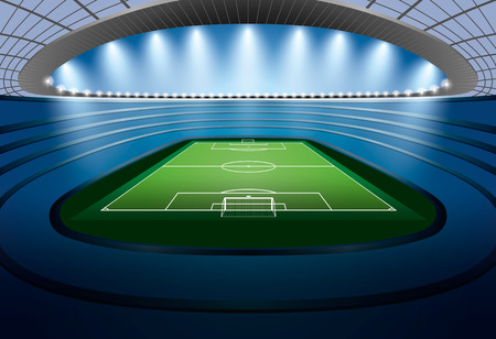 soccer stadium: Soccer Stadium with spot light. Football Stadium. Soccer arena.