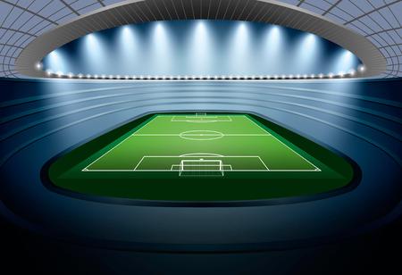 stadium soccer: Soccer Stadium with spot light. Football Stadium. Soccer arena.
