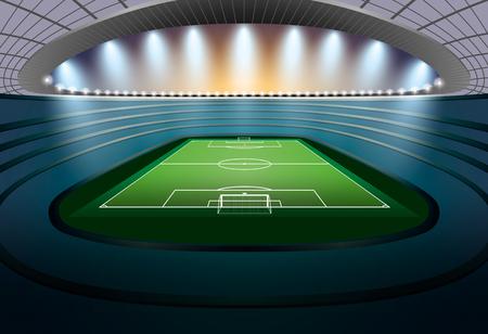 football stadium: Soccer Stadium with spot light. Football Stadium. Soccer arena.