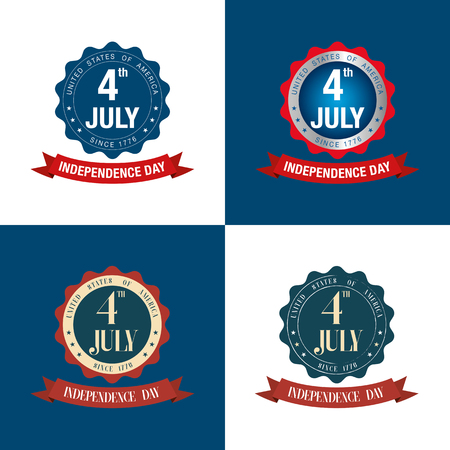 th: independence day 4 th july. happy independence day. vector illustration. Illustration