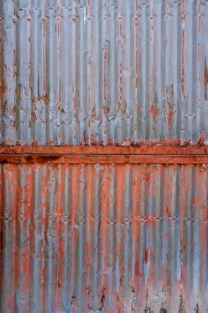 zinc: Old rusty zinc plat wall, Zinc wall ,rusty Zinc grunge background. Stock Photo