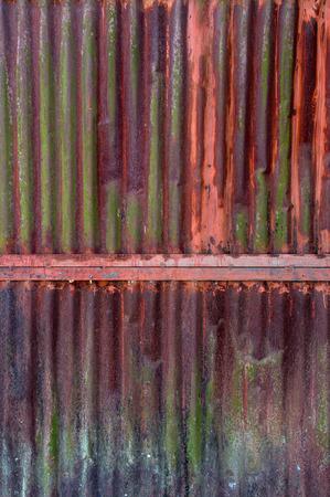 corrugated steel: Old rusty zinc plat wall, Zinc wall ,rusty Zinc grunge background. Stock Photo
