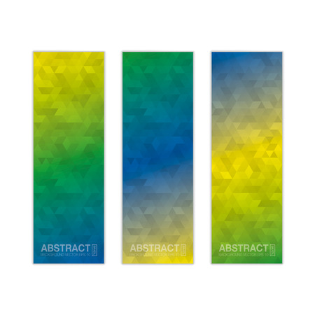 three colors: Abstract banner background in colors of Brazil. Three colors concept for Brazil 2016. vector .