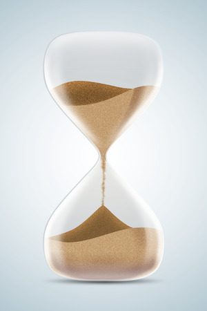 to trickle: Hourglass isolated on white background. 3d illustration. Stock Photo