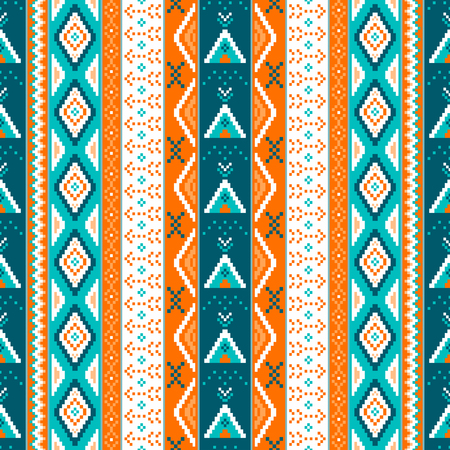 Ethnic boho seamless patterns. Vintage ornament. Abstract background texture, wallpaper, wrapping. Vector illustration. Illustration