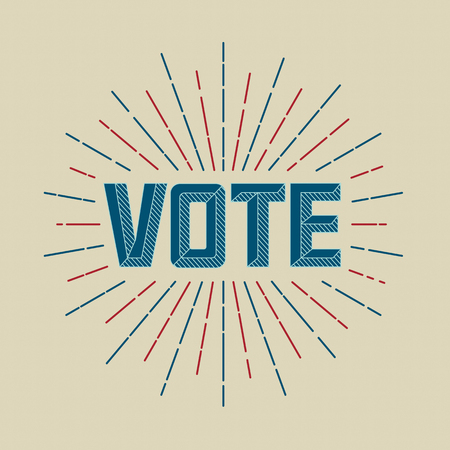 partisan: Vote campaign. Retro or Vintage Style. Vector illustration.