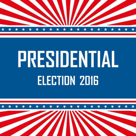 resignation: 2016 USA presidential election campaign. Vector illustration.