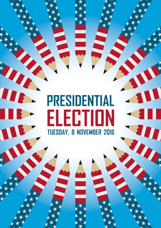 presidential: 2016 USA presidential election campaign. Vector illustration.