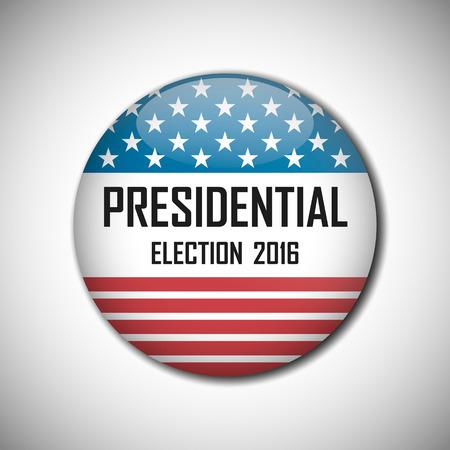 partisan: USA presidential election campaign badge button. Vector illustration.