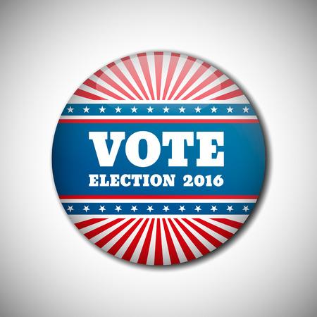 campaign: Vote election campaign badge button. Vector illustration. Illustration