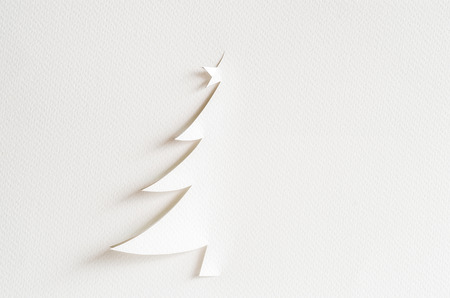 paper craft: Christmas tree paper cutting design card. Christmas tree paper craft.