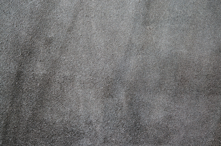 Dark brown suede soft leather as texture background. Close up shammy leather texture Stock Photo