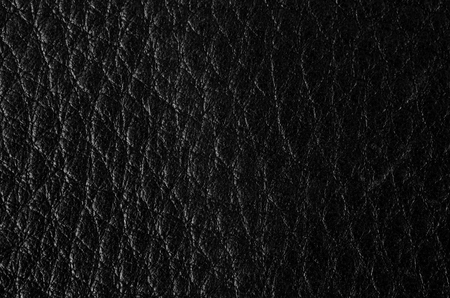 weathered: Black leather texture closeup. Useful as for background. Stock Photo