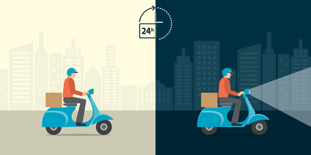 moving box: Delivery 24 hour concept.