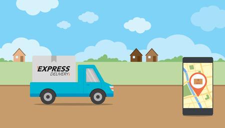 Concepto de entrega exprés