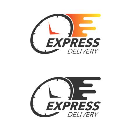 Concepto de icono de entrega urgente. Mire el ícono de servicio, pedido, envío rápido y gratuito. Ilustración de vector de diseño moderno.