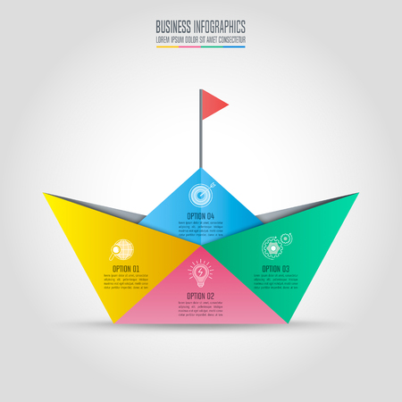 Creative concept for infographic with 4 options