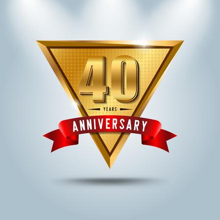 40 years anniversary celebration vector illustration Illustration