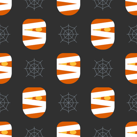 Scary halloween seamless pattern background. Design for background, wallpaper or gift wrapping paper. Vector illustration.