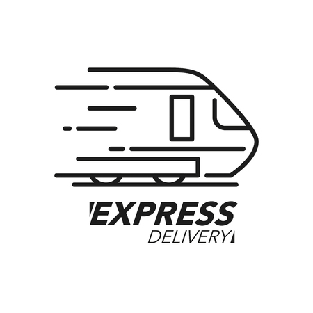 Express delivery icon concept. Train speed icon for service, order, fast and worldwide shipping. Modern design vector illustration.
