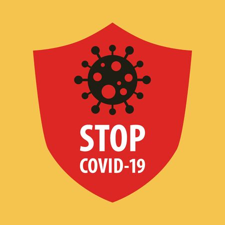 Stop Covid-19 Coronavirus concept. Novel Coronavirus (2019-nCoV). World Health organization WHO introduced new official name for Coronavirus disease named COVID-19. Vector illustration. 矢量图像