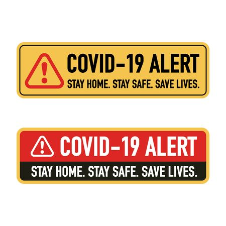 Stay home, Stay save, Save lives signage vector design concept. Stop Covid-19 Coronavirus Novel Coronavirus (2019-nCoV), protect yourself and help prevent spreading the virus to others. Vector illustration.