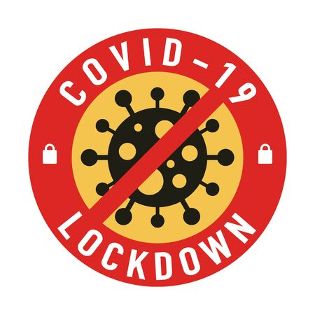 Covid-19 lockdown for quarantine concept. Protect yourself and help prevent spreading the virus to others. Novel Coronavirus (2019-nCoV).Vector illustration.