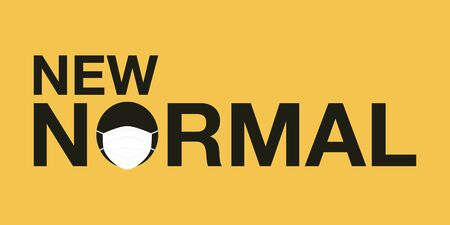 New normal signage vector design concept. After the Coronavirus or Covid-19 causing the way of life of humans to change to new normal.Vector Illustration.
