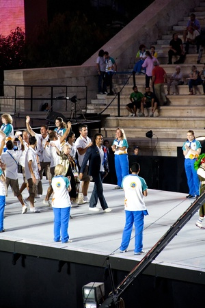 Athens 2011 Special Olympics Opening Ceremony - Christian Karembeu leading French team