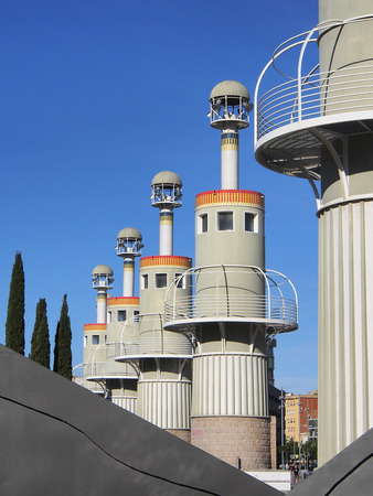 industrial park: Industrial park located near Sants train station at Barcelona, Spain