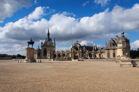 chantilly: Famous historic chateau located in town of Chantilly, France.