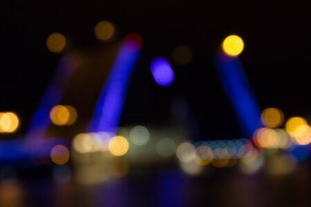 Blur moveable bridge, Saint-Petersburg, Russia