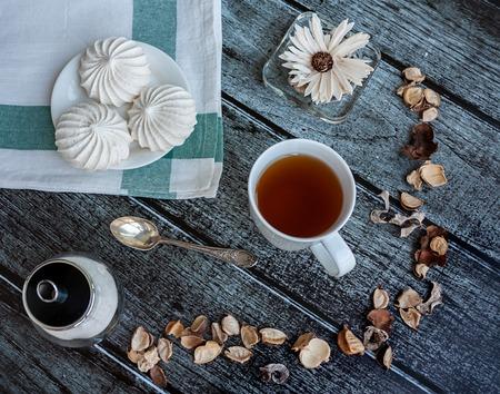 nice food: Nice фото еда с чашкой чая и безе