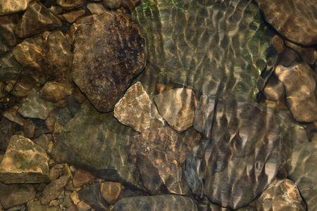 rock bottom: Rocks under water Stock Photo