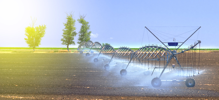 Field irrigation system for better plant growth and further cultivation and growing of agricultural crops.