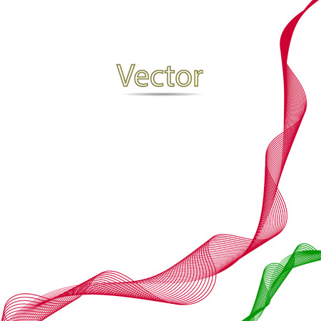 variability: Abstract color wavy line symbolizes the fluidity, variability of the flow curves Illustration