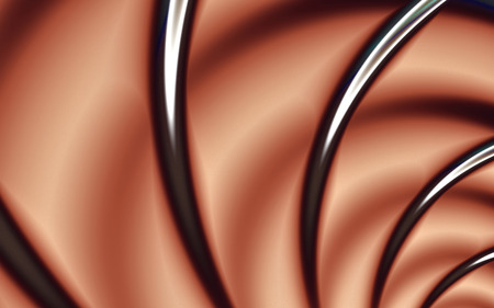 A fantastic line. Abstract shapes of chocolate shades. The background image for the desktop. Flights in dreams. A narrowing tunnel deep into the picture.